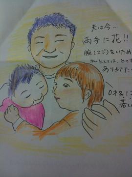 横浜市 三田さま似顔絵が届きました